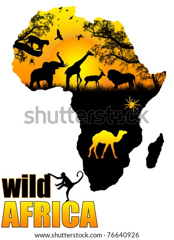 wild africa poster background