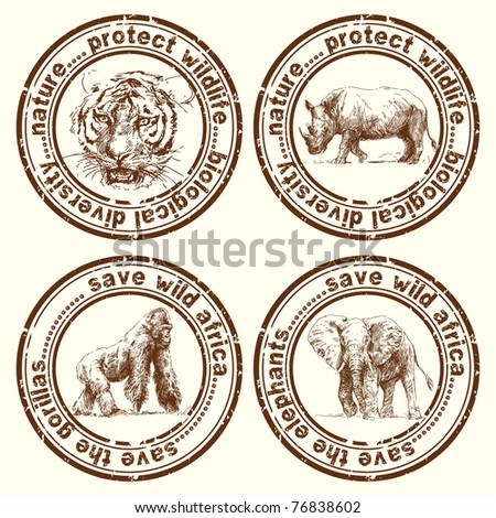 wild africa stamps