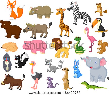 wild animal cartoon collection