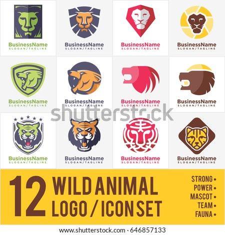 Wild Animal Logo - Icon Bundle