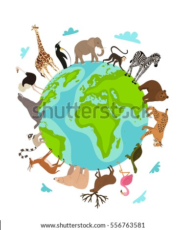 wild animals around globe