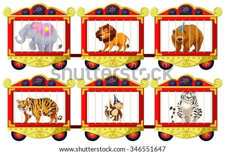 wild animals in the circus