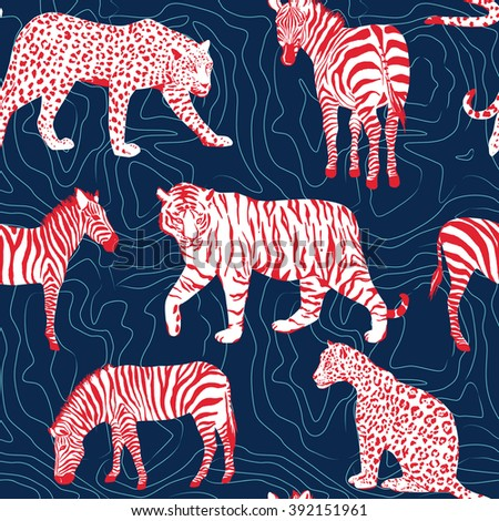 wild animals pattern   contour