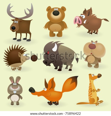 wild animals set  2  forest