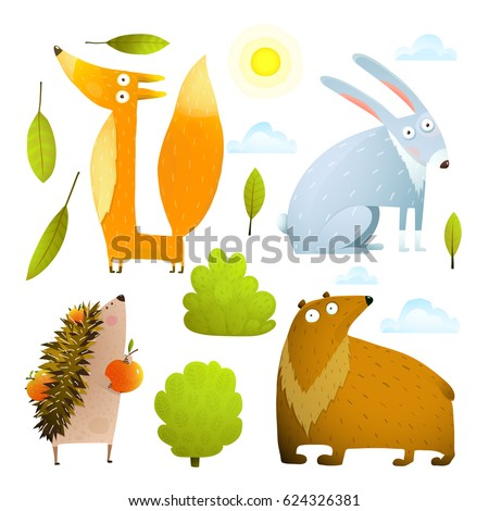 wild baby animals clip art