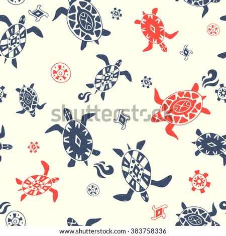 wild beach. seamless pattern