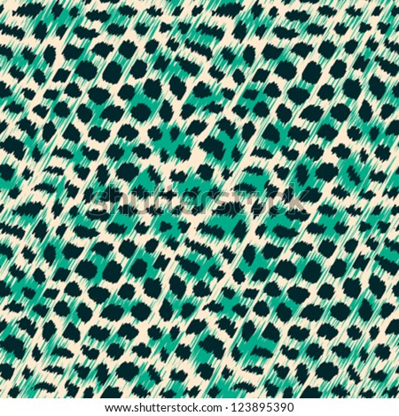 Wild cat fur print Seamless pattern Vector