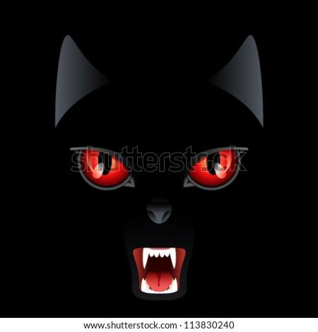 wild cat   vector illustration