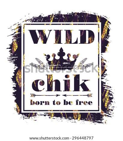 wild chik vector illustration