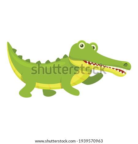 Wild crocodile icon. Cartoon of Wild crocodile vector icon for web design isolated on white background