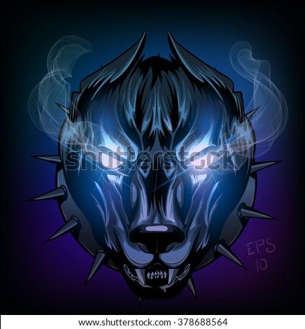 wild devil dog snout  wolf