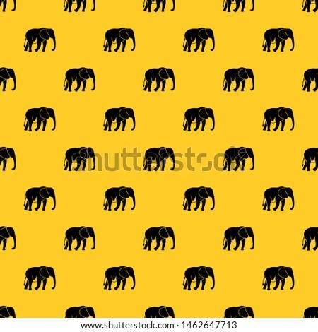 wild elephant pattern seamless