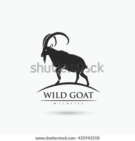 wild goat symbol   vector