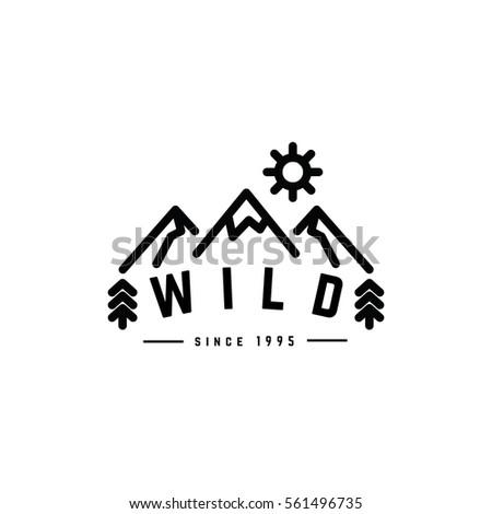wild hipster clothing logo