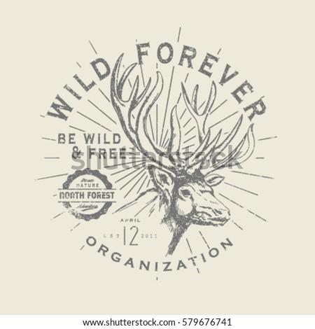 wild life deer print