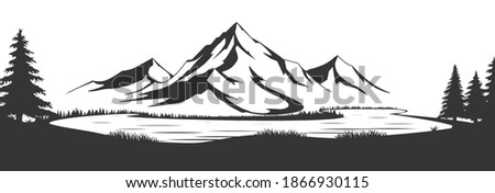 wild natural landscape with