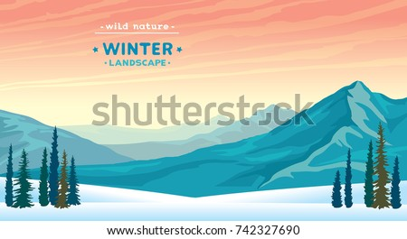 wild nature illustration with