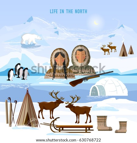 wild north arctic people in