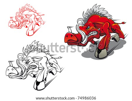 running tattoos gallery. running tattoos gallery. stock vector : Wild running boar as a tattoo or