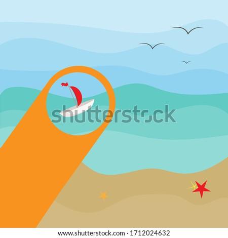 wild sandy beach on the island