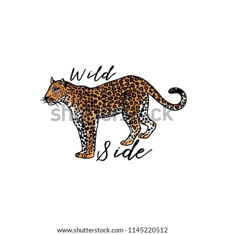 wild side slogan leopard