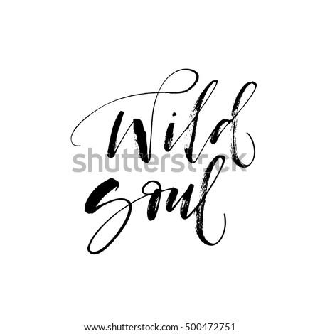 wild soul card hand drawn
