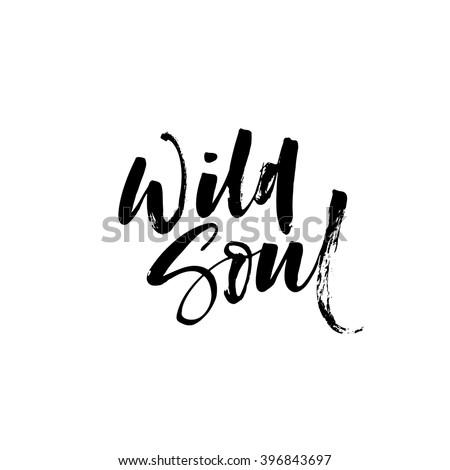 wild soul card vector