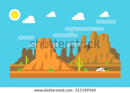 wild west arizona mountain flat