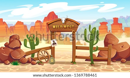 wild west cartoon illustration