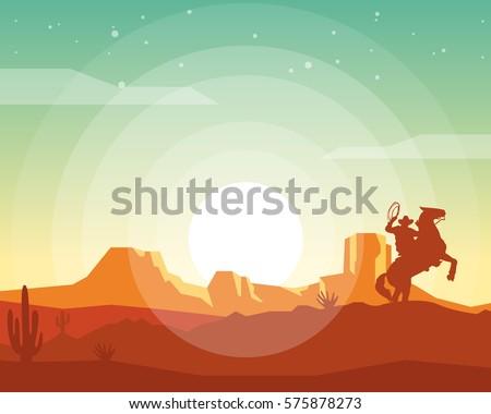 wild west landscape western