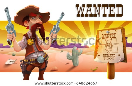 wild west landscape with cool