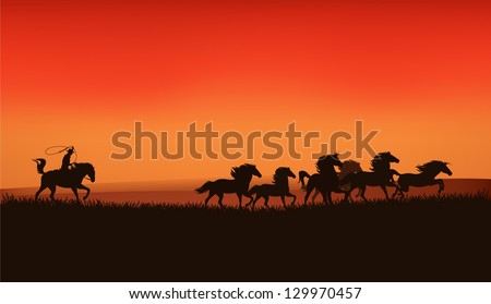 wild west prairie landscape