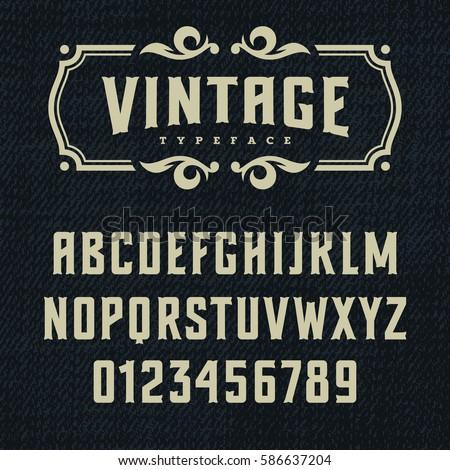 wild west typeface   retro