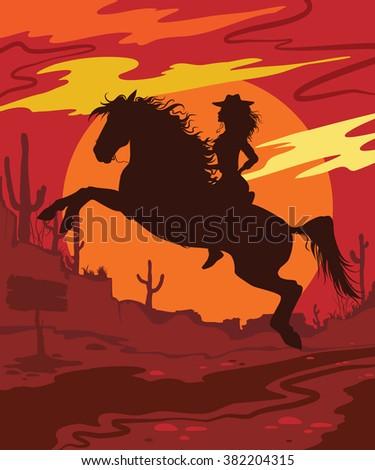 wild west vector illustration...