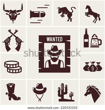 wild west wanted poster and