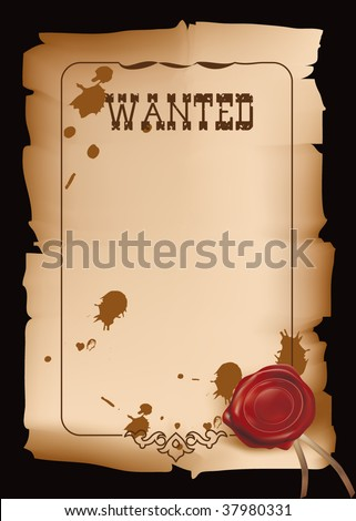 Wild west wanted poster in vector format