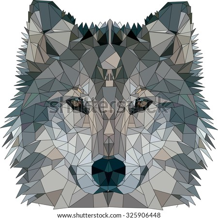 wild wolf  abstract geometric