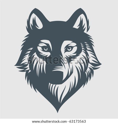 wild wolf vector graphics