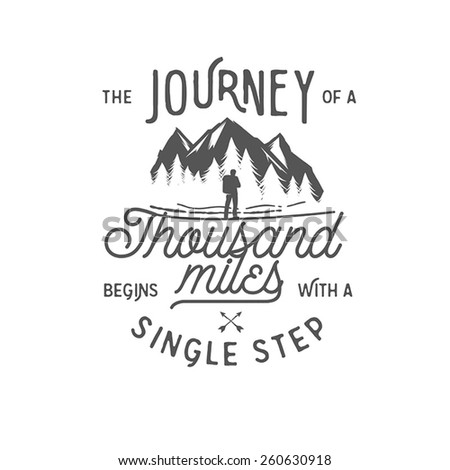 Wilderness quote typographic emblem