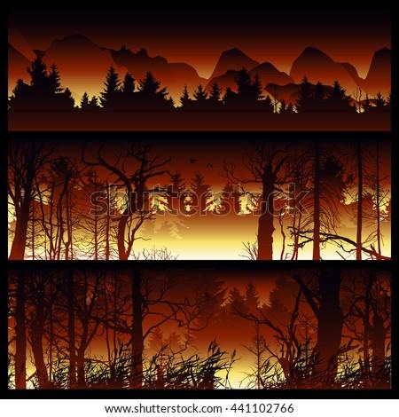 wildfire background burning