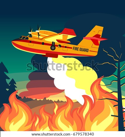 wildfire firefighter plane or