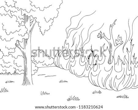wildfire graphic black white