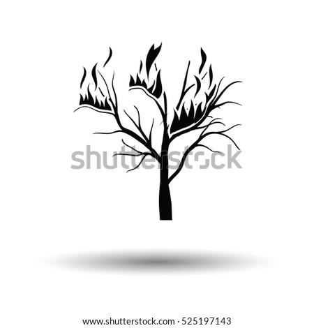 wildfire icon white background