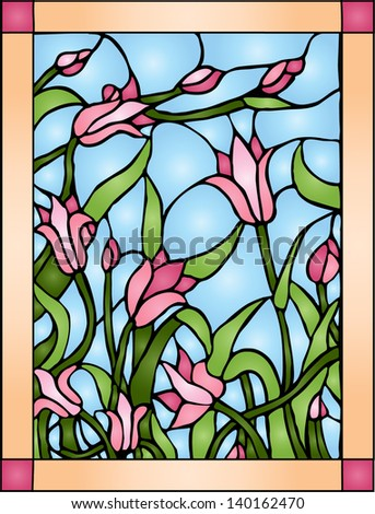 wildflowers    stained glass