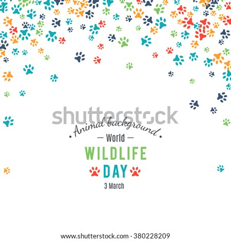 wildlife day poster  abstract