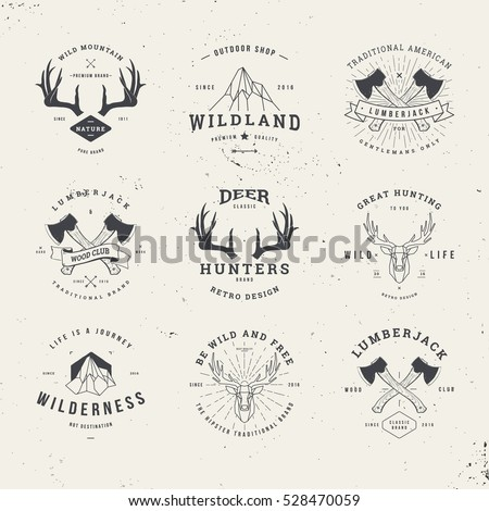 wildlife hunters  hipster logo