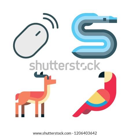 wildlife icon set vector set