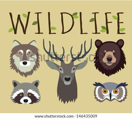 wildlife set   masks of wild