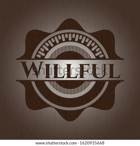 Willful wooden signboards. Vector Illustration.