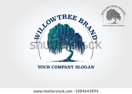 Willow Tree Vector Logo Template.That were created to highlight the organic, natural aspect of our life. This concept could be used for recycling, environment associations, landscape business, etc. Stock fotó ©